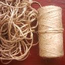 Green/ Natural Colour Jute Twine