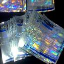 Colourful Printed Holographic Pouches