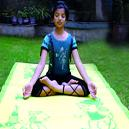 Poly Propylene Made Colourful Yoga Mat