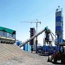 Concrete Batching Plant With In-Line Aggregate Storage Bin