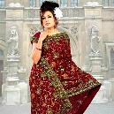 Jaal Embroidered Georgette Sarees