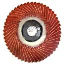 Overlapping Coated Abrasive Radial Flap Disc