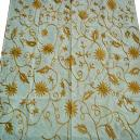 Floral Embroidered Table Cover