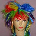 Vibrant Colour Combined Funny Wig
