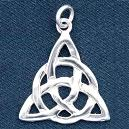 Triangular Shaped Sterling Silver Pendant
