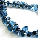Blue Topaz Gemstone Drops