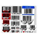Multi Colour Printed Barcode Sticker