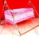 Chrome Plated Baby Cradle