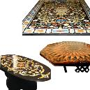 Stone Inlaid Dining Table