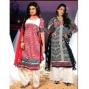 Polka Dotted Salwar Suits
