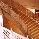 Lattice Stairs With Railing