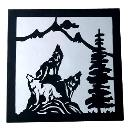 Black And White Colour Combined Wall Hanging
