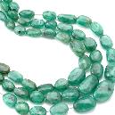 Plain Emerald Nugget Beads