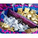 Hygienically Packed Colourful Chocolates In Basket