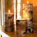 Environment Friendly Decorative Birch Candle