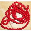 Glossy Finished Red Coral Mala