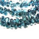 Faceted Blue Topaz Beads