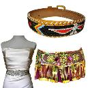 Colourful Designer Beaded Belts