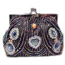 Bead Studded Clutch Purse