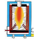 Thermal Heater With Cylindrical Combustion Chamber