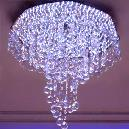 Purple Colour Crystal Chandelier