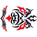 Red And Black Temporary Water Tattoo