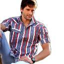 Stripe Designed Shirt For Men