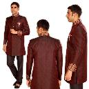 Maroon Coloured Indo Western Suit For Men