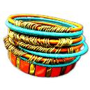 Intricately Designed Smooth Bangles