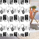 Black And White Coloured Shower Curtain