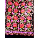 Colourful Floral Embroidered Shawl