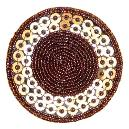 Round Shaped Beaded Coaster