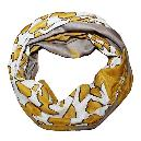 Yellow Coloured Animal Printed Scarf