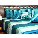 Multicolour Combined Bed Cover