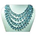 Blue Topaz Faceted Briolette Beads