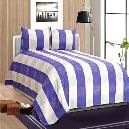 White And Purple Coloured Bed Cover