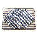 White And Blue Coloured Check Printed Napkin