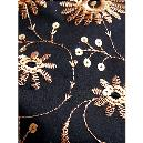 Black Coloured Embroidered Fabric