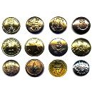 Intricately Designed Metal Button