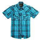 Blue Coloured Check Pattern Shirt For Boy