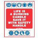 Paper/ Plastic Made Safety Slogan Signage