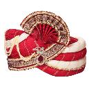Red And White Coloured Turban