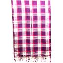 Check Printed Cotton Scarf