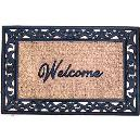 Rubber Grilled Bordered Non Brush Coir Mat