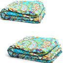 Green Coloured Kantha Bedsheet