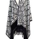 White And Black Coloured Shawl