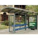Outdoor Purpose Bus Stop Shed