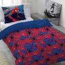 Red And Blue Coloured Bed Linen