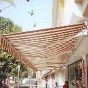 Outdoor Purpose Stripe Pattern Awning