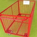 Red Wire Mesh Trolley